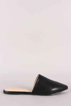 Chase & Chloe Black Mule Flats - Product List Image
