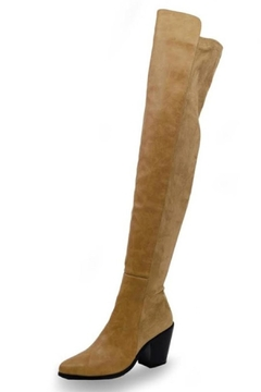 Chase & Chloe Classic Thigh-High Boot - Product List Image