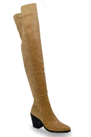Chase & Chloe Classic Thigh-High Boot - Front full body