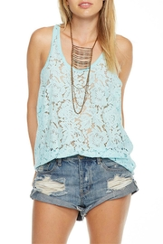 Chaser Aqua Lace Tank Top - Front cropped