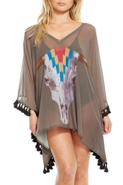 Chaser Cow Skull Cover Up - Front cropped