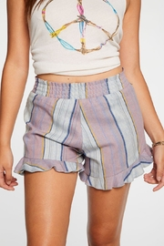 Chaser Beachy Linen Shorts - Front cropped