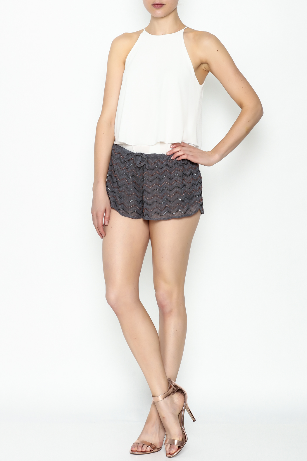 Chaser Beaded Shorts - Side Cropped Image