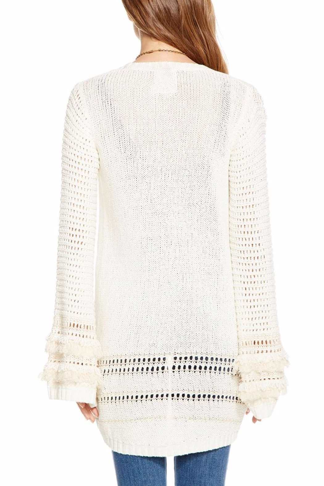 Chaser Bell-Sleeve Open Cardigan - Side Cropped Image