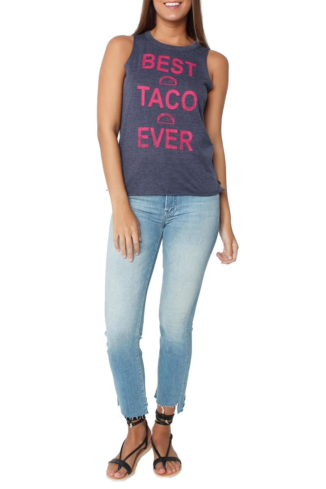 Chaser Best Taco Ever Tank - Front Full Image