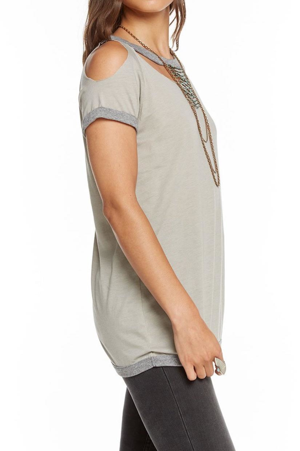 Chaser Blocked Jersey Tee - Side Cropped Image