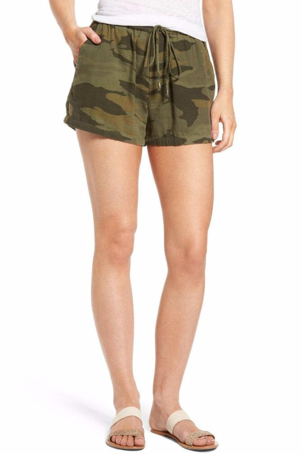 Chaser Camo Drawstring Short - Front Cropped Image