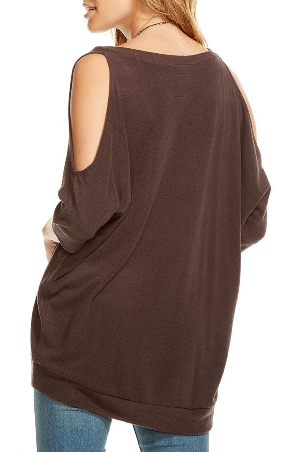 Chaser Cold Shoulder Sweater - Side Cropped Image