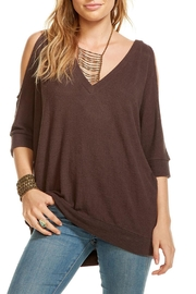 Chaser Cold Shoulder Sweater - Front cropped