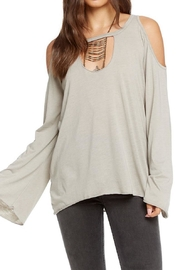 Chaser Cold Shoulder  Top - Product Mini Image