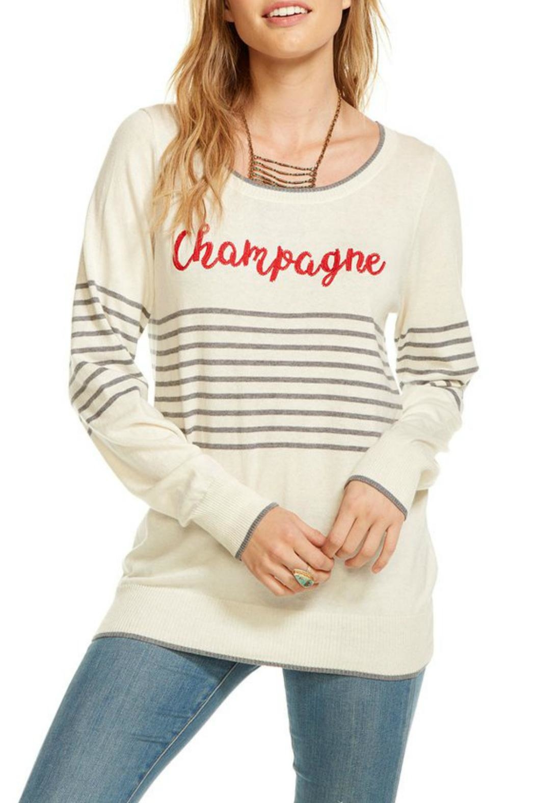 Chaser Cashmere Champagne Pullover - Main Image