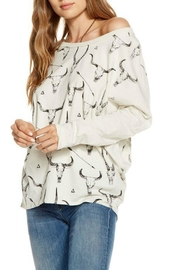 Chaser Cow Skulls Top - Product Mini Image