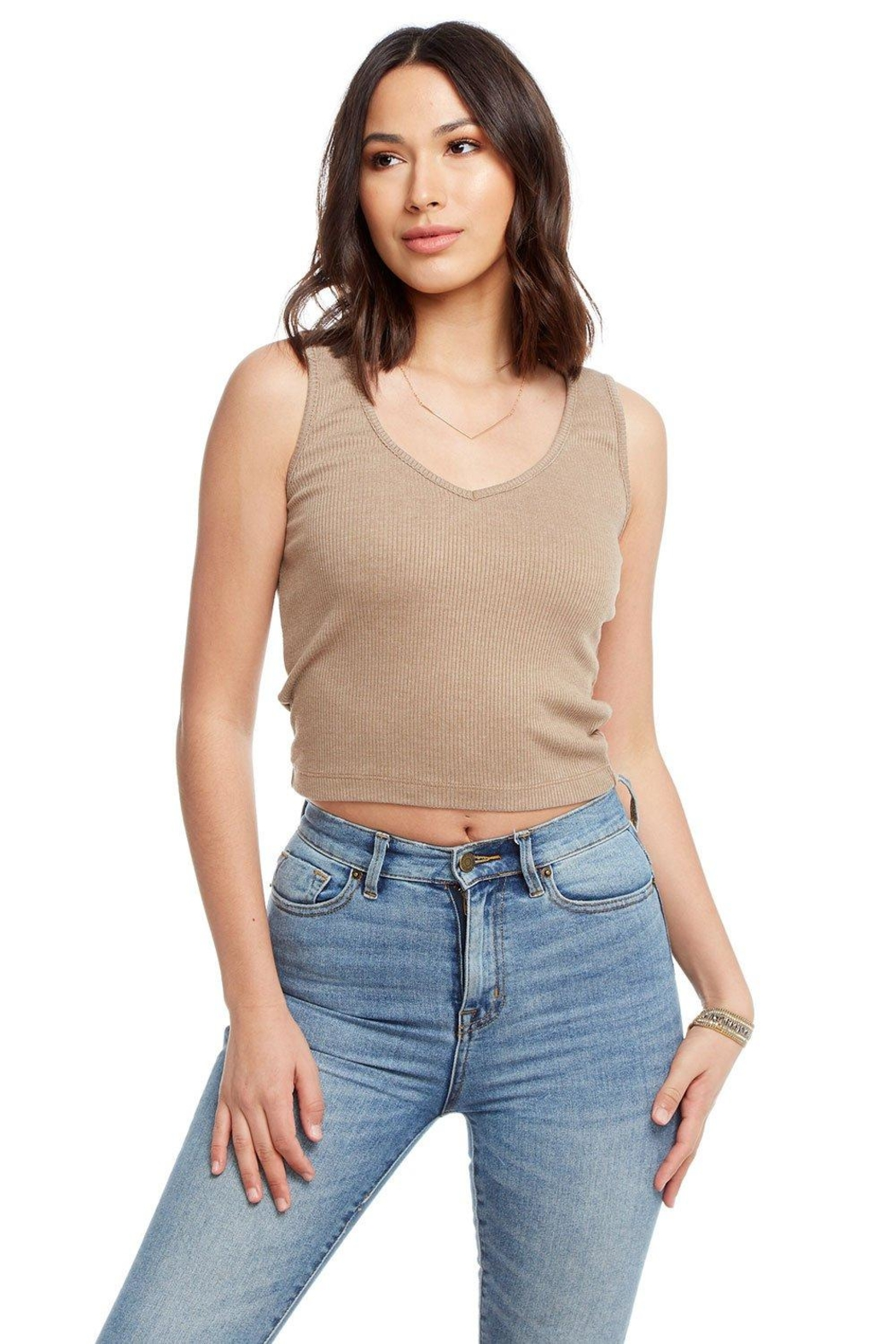 Chaser Cozy Rib Top - Front Full Image
