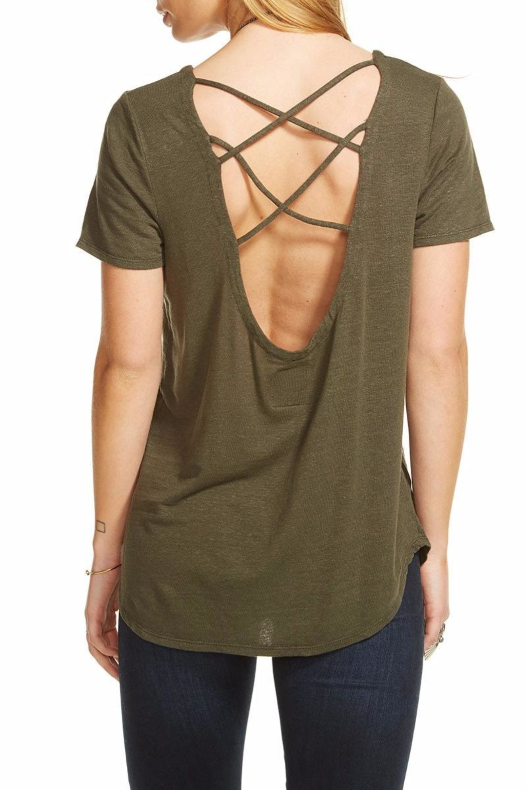 Chaser Criss-Cross Back Tee - Front Full Image