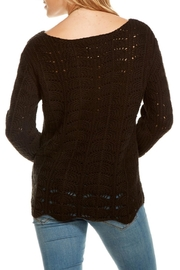 Chaser Crochet Scallop Sweater - Front full body