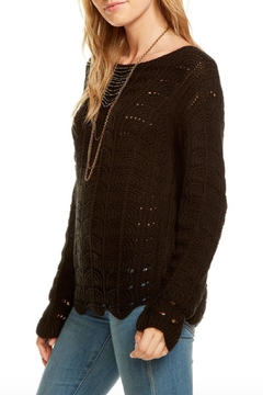 Chaser Crochet Scallop Sweater - Product List Image