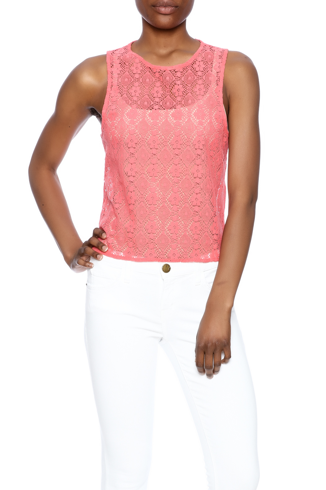 Chaser Crochet Tank - Front Cropped Image
