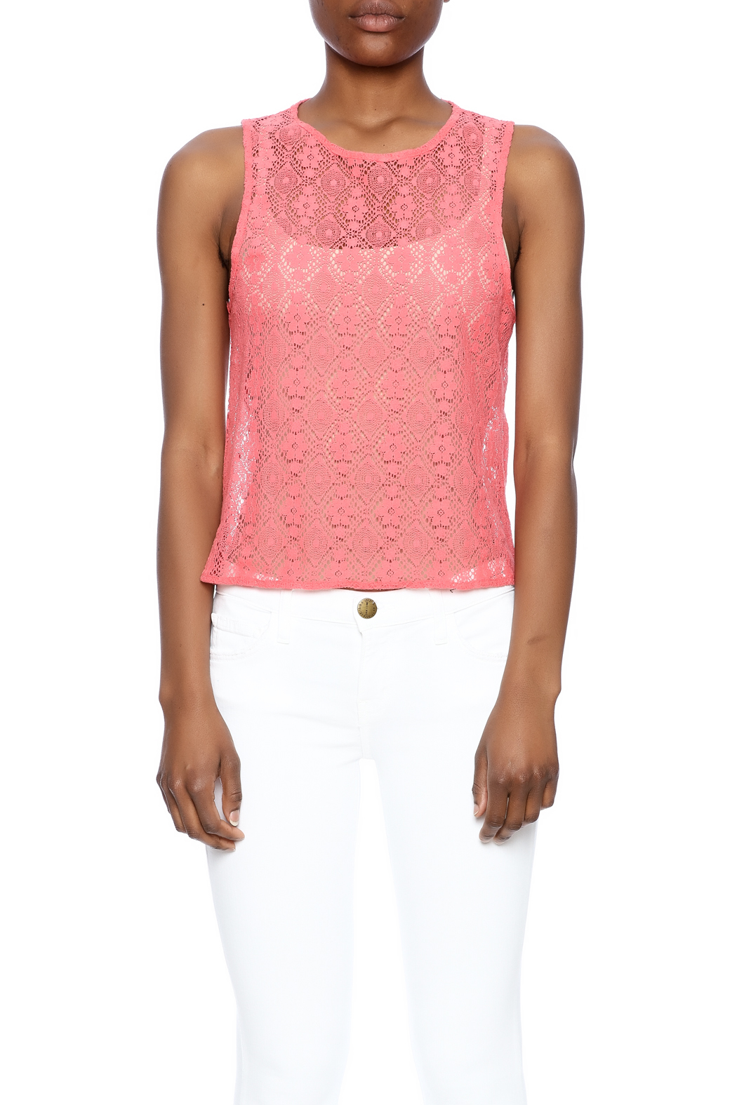 Chaser Crochet Tank - Side Cropped Image