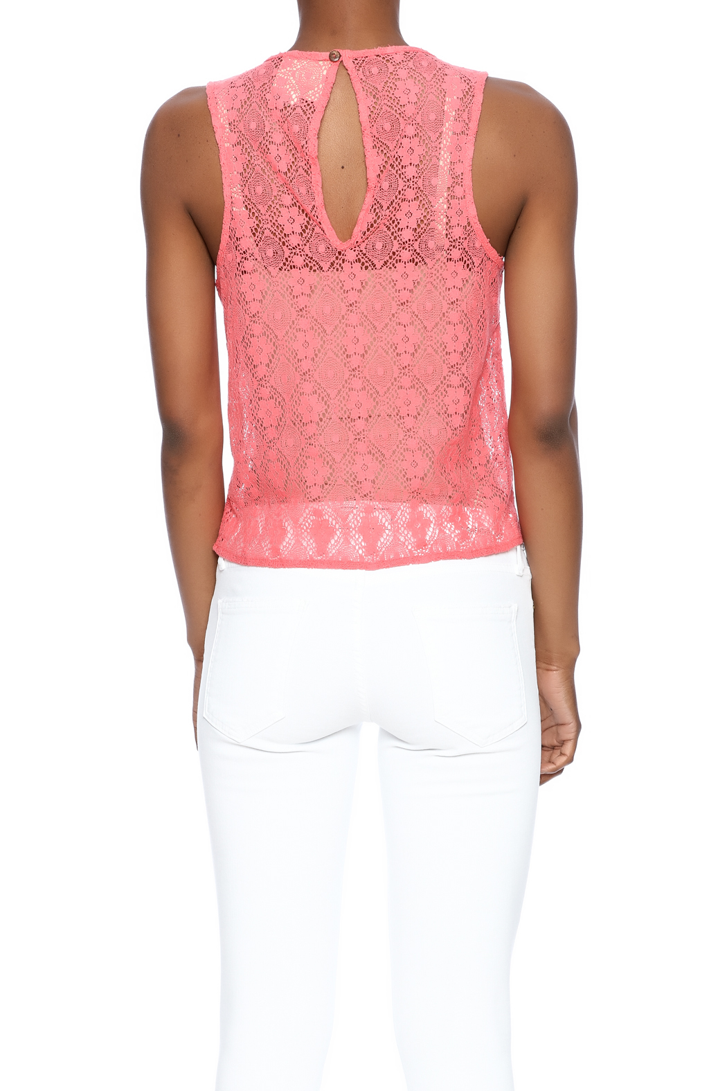 Chaser Crochet Tank - Back Cropped Image