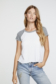 Chaser Cropped Short Sleeve Raglan - Product Mini Image