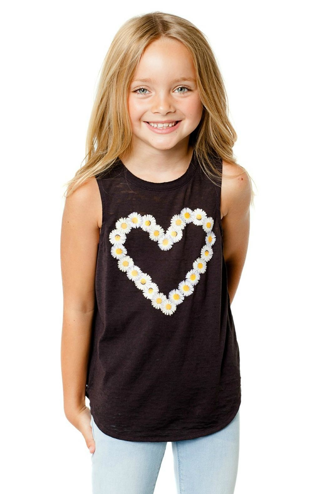 Chaser Daisy Heart Tank - Front Cropped Image