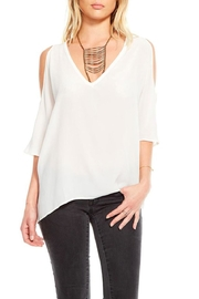 Chaser White Cold Shoulder Top - Product Mini Image