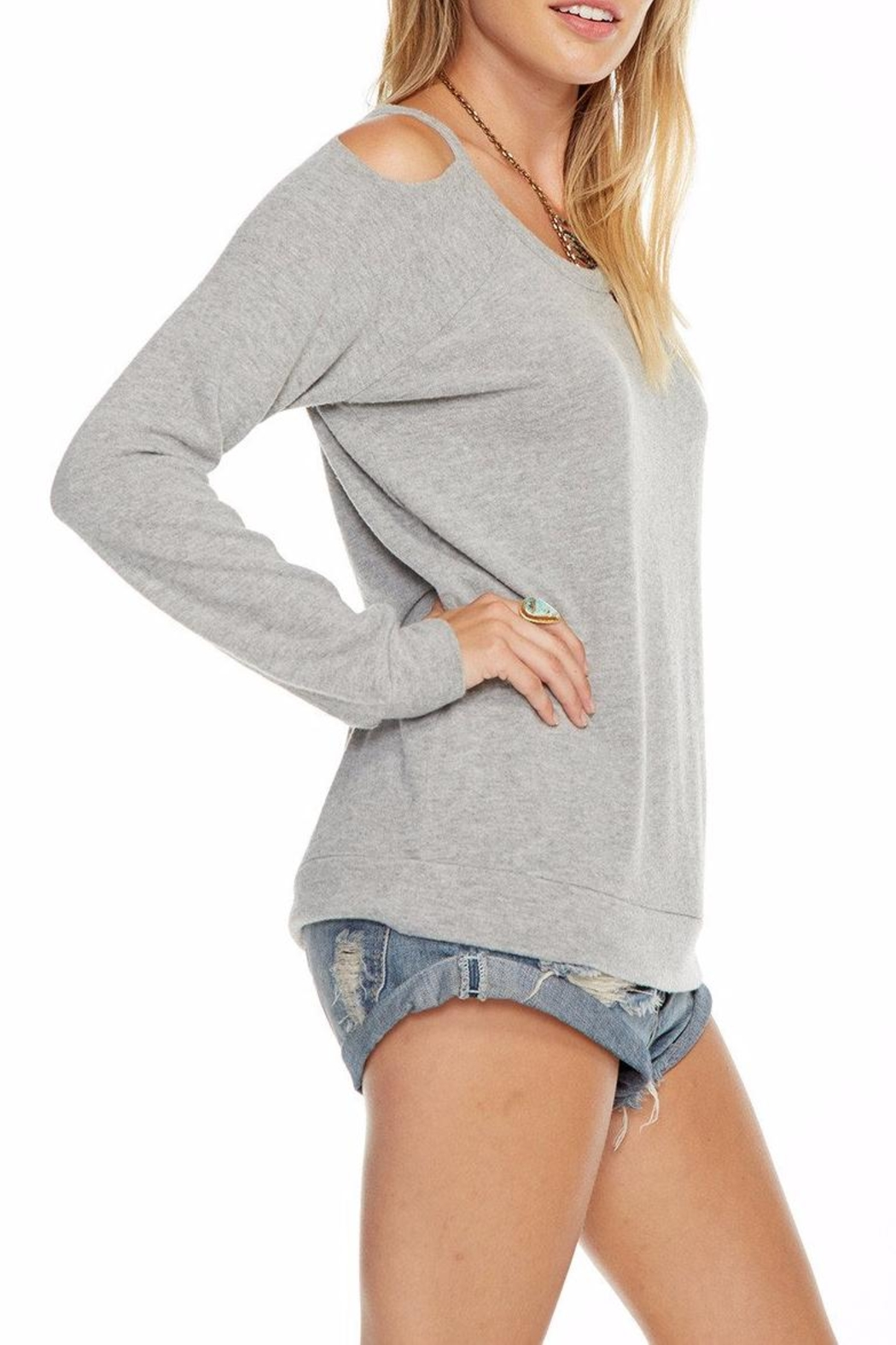 Chaser Deconstructed Raglan Pullover - Side Cropped Image