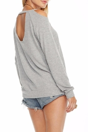 Chaser Deconstructed Raglan Pullover - Front full body
