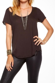 Chaser Deconstructed Shirt Tail Top - Product Mini Image