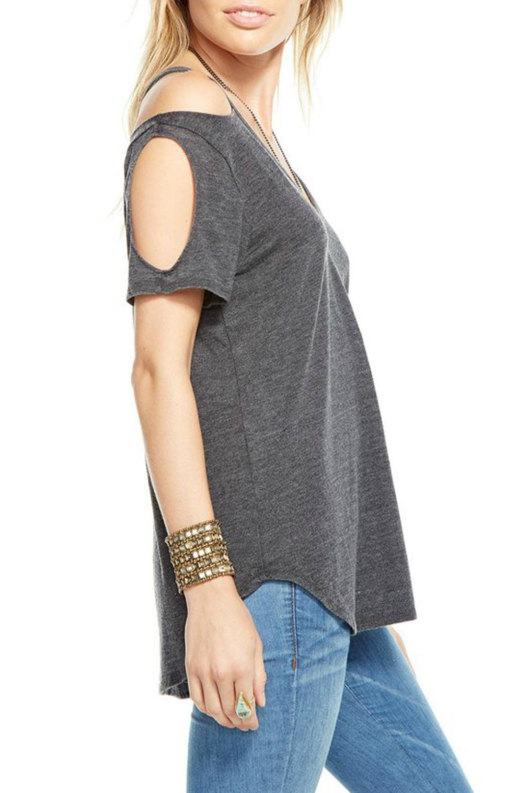 Chaser Double Cold Shoulder Top - Front Full Image