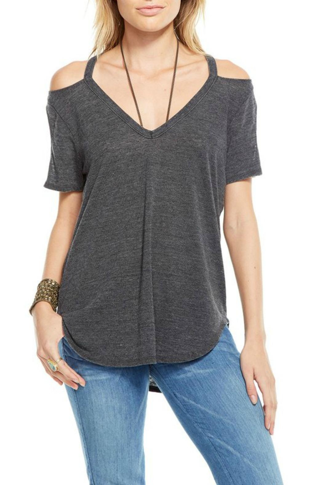 Chaser Double Cold Shoulder Top - Front Cropped Image