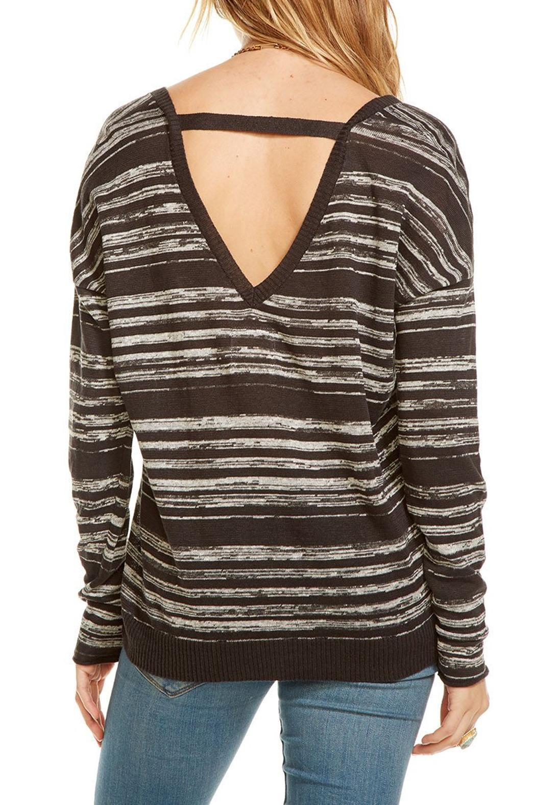 Chaser Double V Neck Pullover - Side Cropped Image