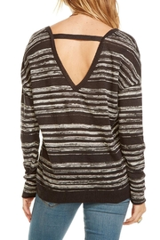 Chaser Double V Neck Pullover - Side cropped