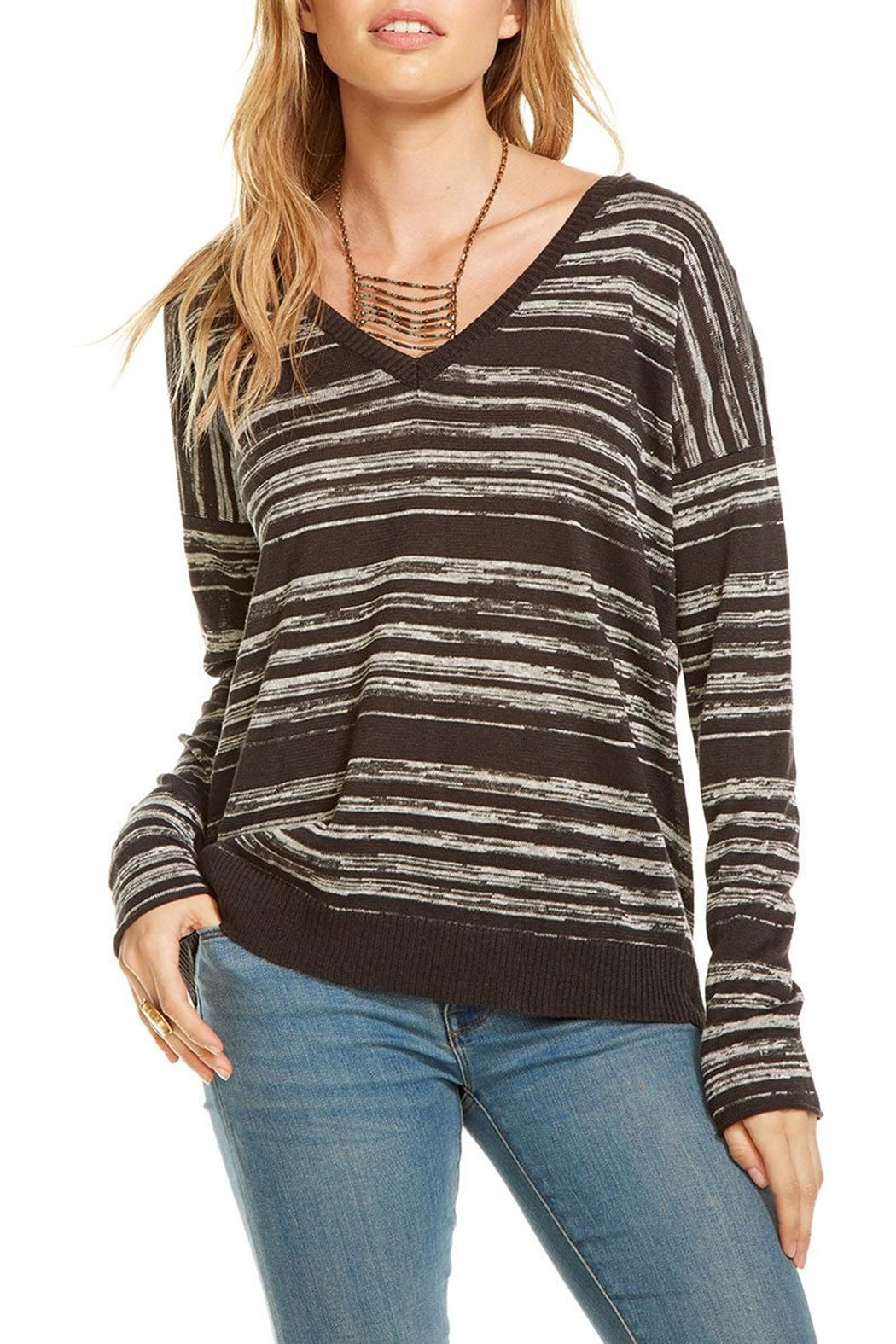 Chaser Double V Neck Pullover - Main Image