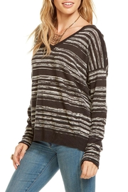 Chaser Double V Neck Pullover - Front full body
