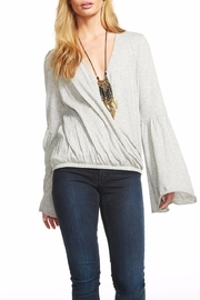 Chaser Flared-Sleeve Surplice Tee - Front cropped