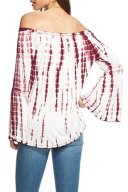 Chaser Flared Off Shoulder Top - Front full body