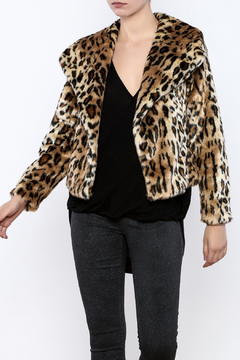 Shoptiques Product: Furry Cheetah Coat
