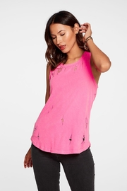 Chaser Gauzy Pink Muscle-Tank - Product Mini Image