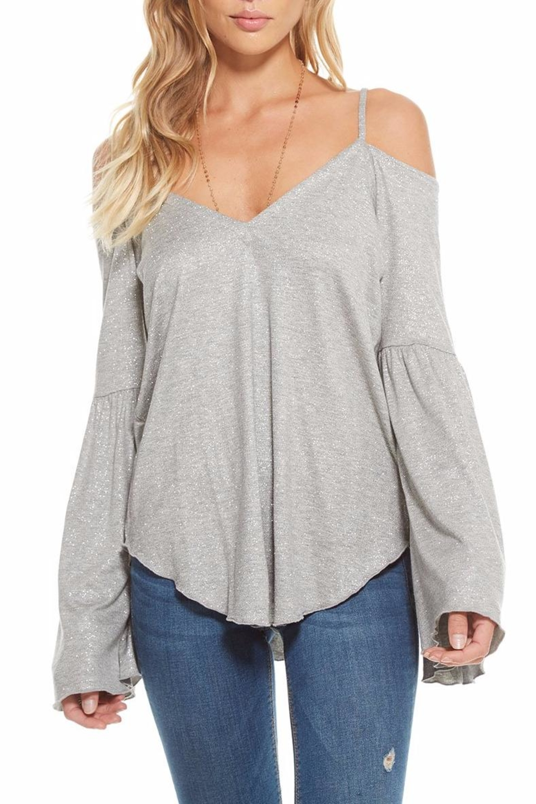 Chaser Glitter Strappy Flounce-Sleeve - Main Image