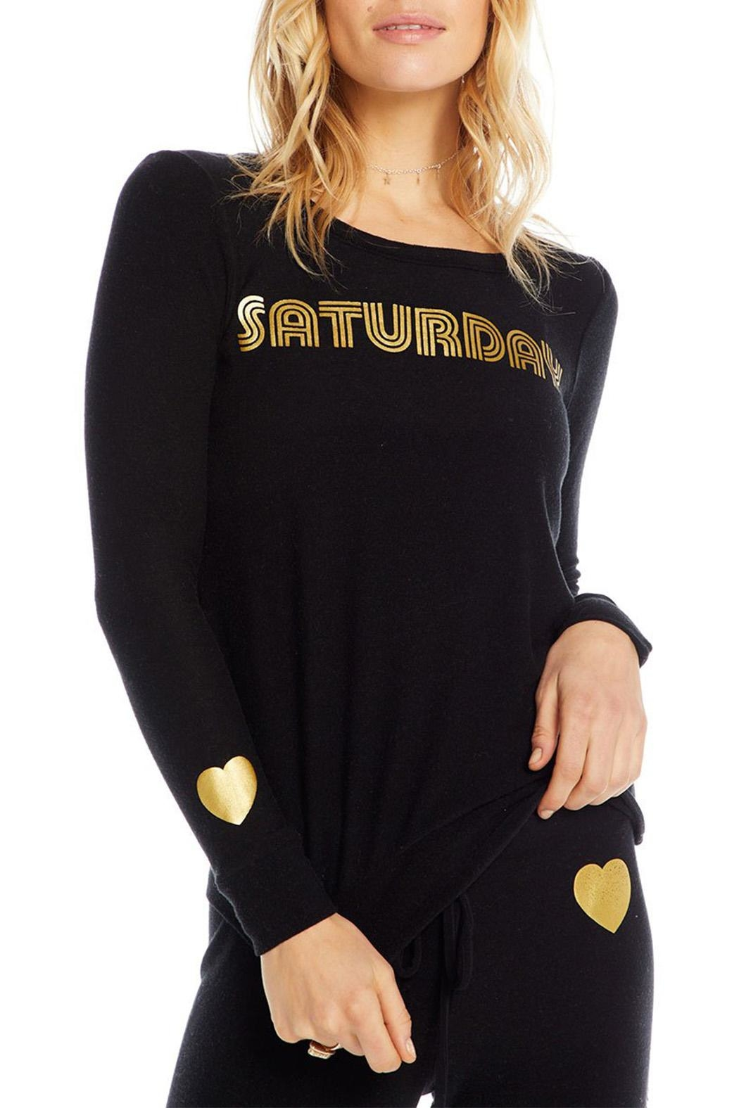 Chaser Golden Saturday Pullover - Side Cropped Image