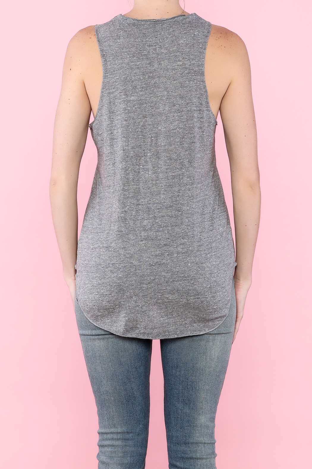 Chaser Gray Graphic Tee - Back Cropped Image