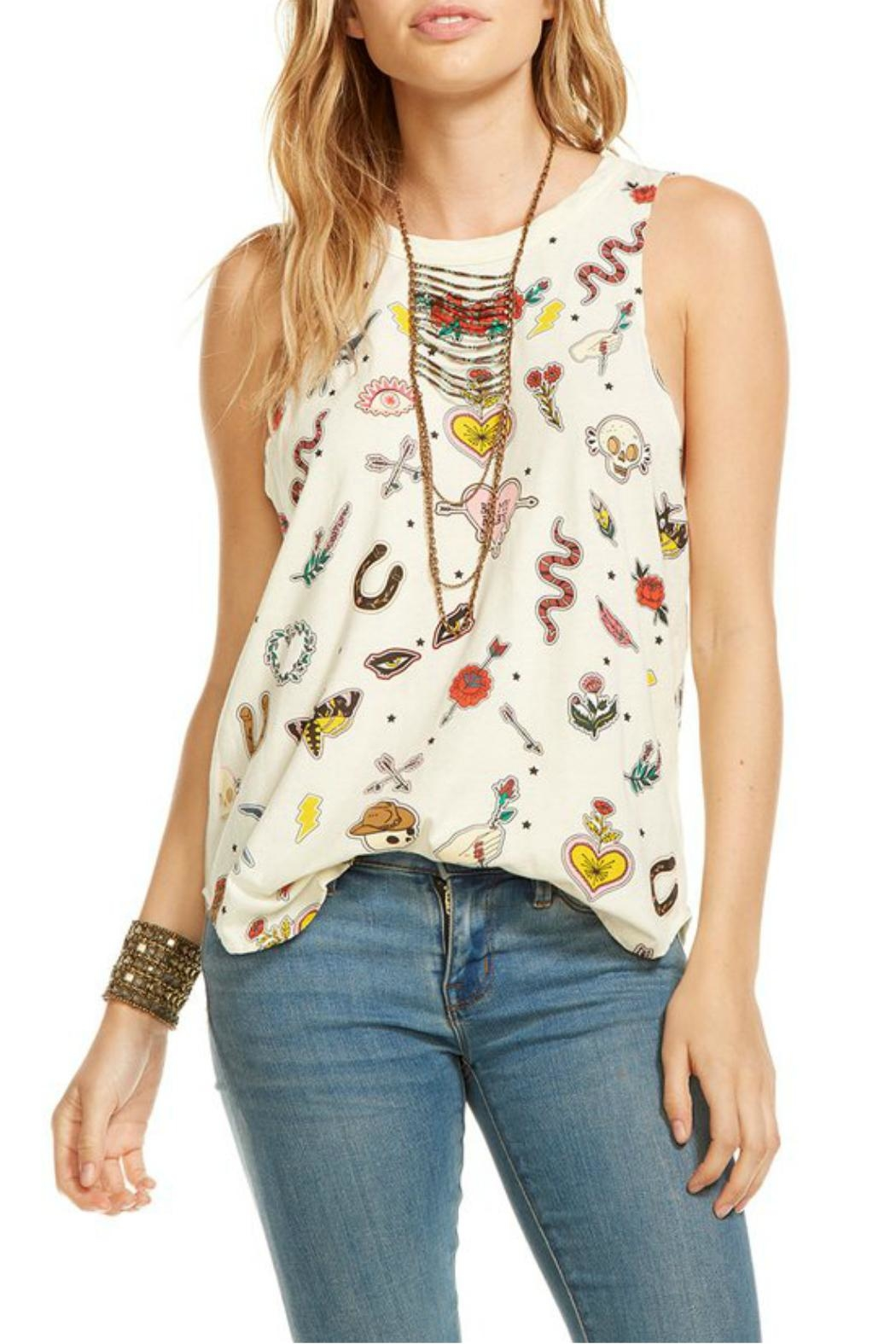 Chaser Graphic Patch Tank Top - Main Image