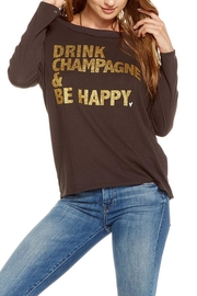 Chaser Happy Champagne Tee - Front full body