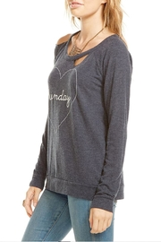 Chaser Heart Sunday Pullover - Front full body