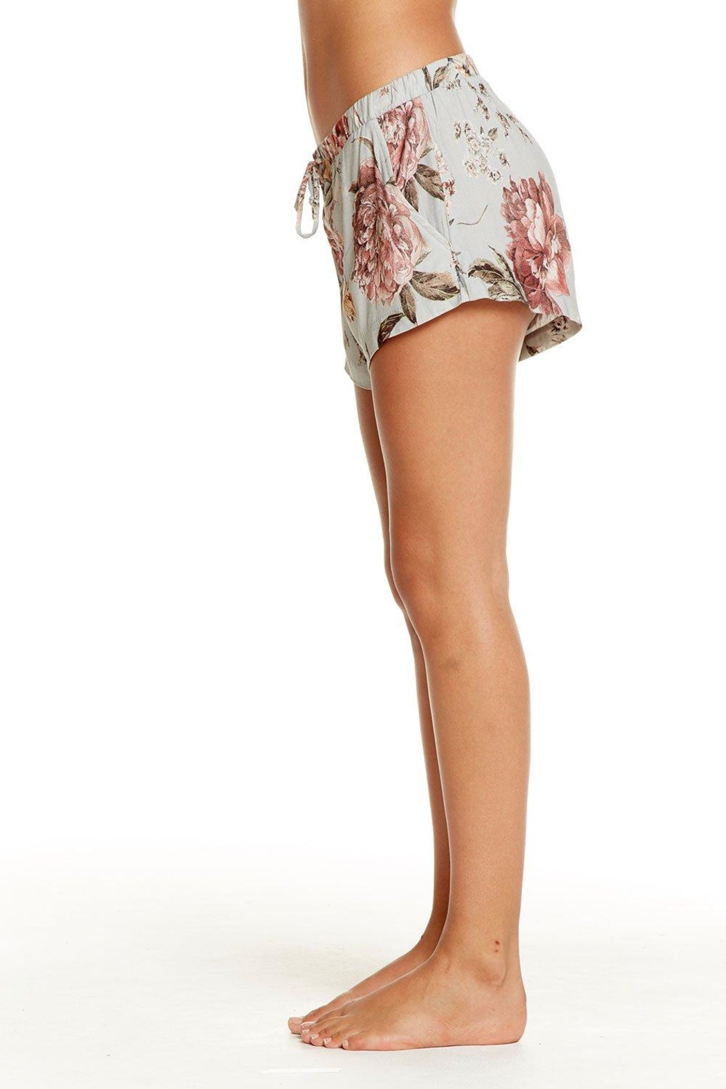 Chaser Heirloom Lace-Up Shorts - Side Cropped Image