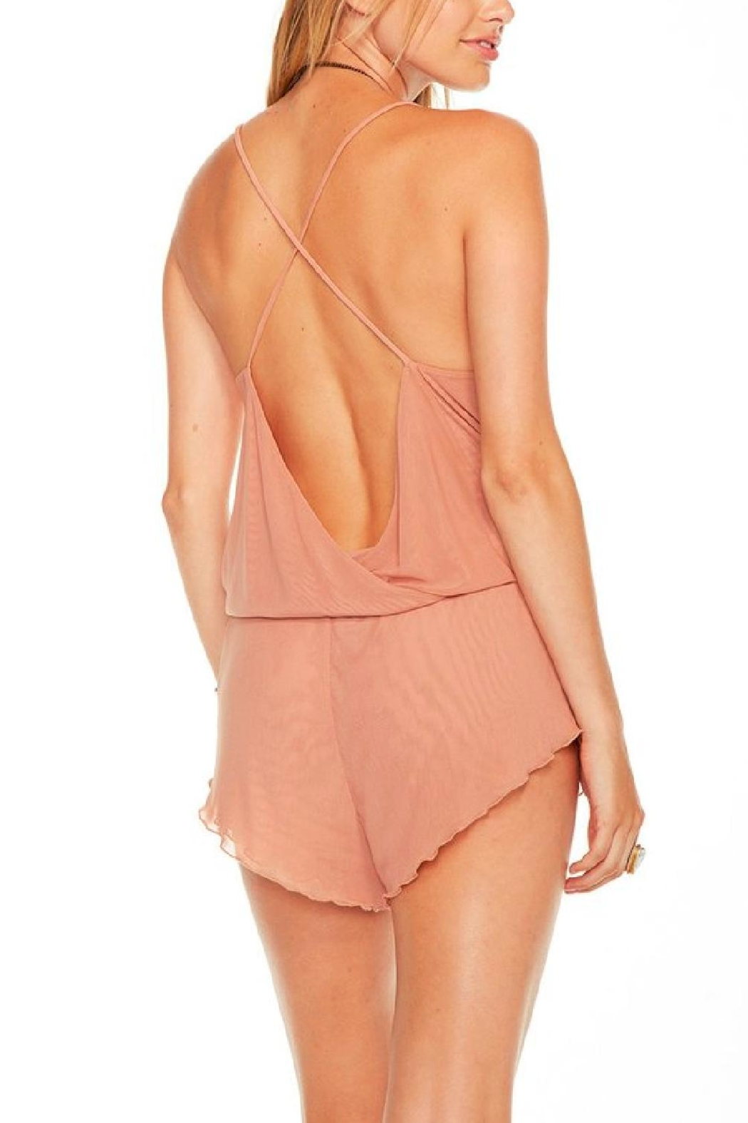 Chaser Intimates Romper Blush - Side Cropped Image