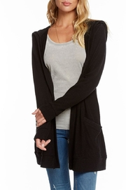 Chaser Lace-Back Hooded Cardigan - Product Mini Image