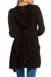 Chaser Lace-Back Hooded Cardigan - Front full body