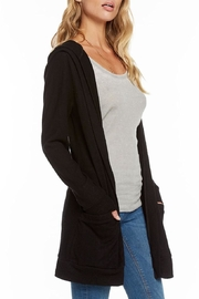 Chaser Lace-Back Hooded Cardigan - Back cropped